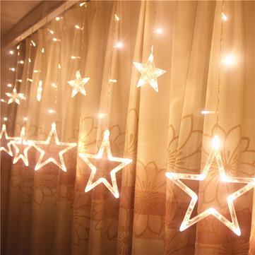 Honana HT-336 220 V LED Light String Star Shape Rèm ánh sáng Trang trí nội thất Lễ hội Lễ cưới