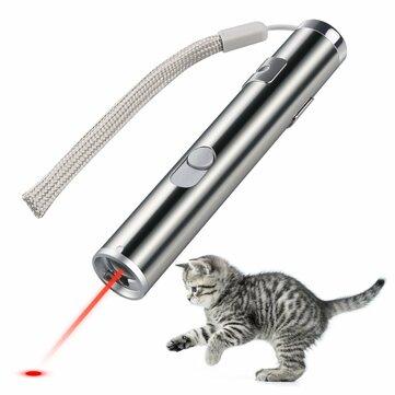Loskii PT-31 Игрушки для домашних животных кота Обучающая игрушка USB аккумуляторный лазерный указатель с LED фонариком