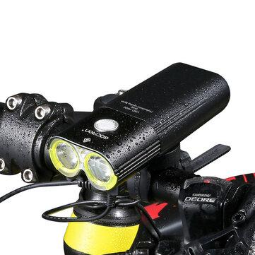 GACIRON 1600 LM Bike Front Headlight Cycling Bicycle Rechargeable Flashlight IPX6 Waterproof 5000mAh Power Bank Bike Accessories