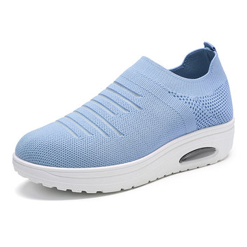 Women Casual Mesh  Comfortable Breathable Pure Color Sneakers