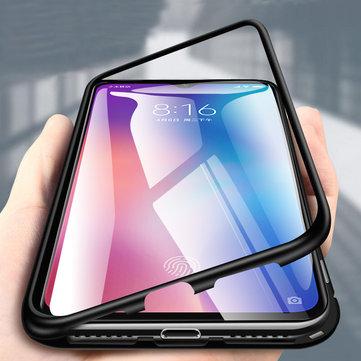 Bakeey 360 ° Manyetik Adsorpsiyon Metal Temperli Cam Çevirme Koruyucu Kılıf Xiaomi Mi 9 / Xiaomi Mi9 Şeffaf Edition