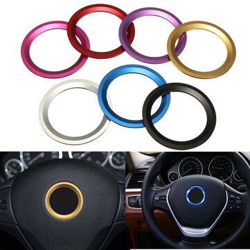 AUTO DECORATIVE ACCESSORIES Steering Wheel Center Logo Decoration Ring For BMW W
