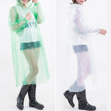 MOHOO PE Poncho 100% Waterproof Suit with Drawstring and Elastic Sleeves Raincoat 140 * 90 cm For Adult for sale in Bitcoin, Litecoin, Ethereum, Bitcoin Cash with the best price and Free Shipping on Gipsybee.com
