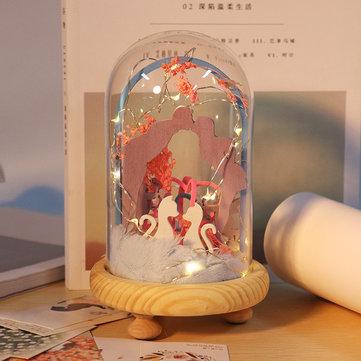 iiecreate DIY Time Lover Handmade Dollhouse Lovely  Kit With LED Light Sweet Sunshine Doll house