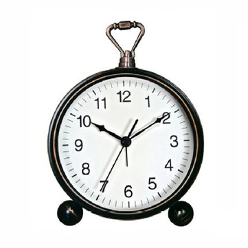 VST Silent Character mesita de noche alarma Reloj hierro forjado pequeño escritorio Reloj