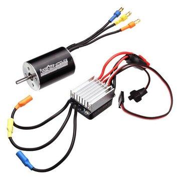 Racerstar 2838 Sensorless Waterproof Motor 3600/4500KV 35A ESC For 1/12 1/14 Cars