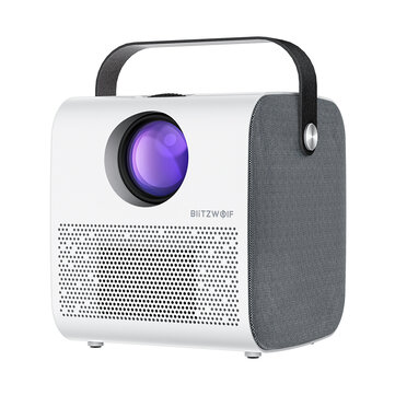 BlitzWolf BW-VP5 Portable LCD Projector 3800 Lumens 1280*720P HD Multimedia bluetooth V4.0 Projector with 3W*2 Speakers Home Theater Projector - US Plug