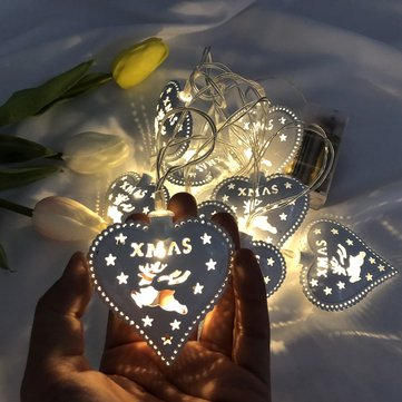 3M 20 LED Battery Operated Heart Shaped Chirstmas Home Decoration String Light DC4.5V