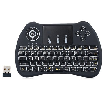 H9 Wireless QWERTY White Backlit 2.4GHz Touchpad Keyboard Air Mouse For TV Box MINI PC