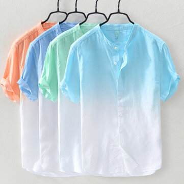 Kleurverloop zomer trendy katoenen losse casual T-shirts
