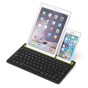 Trådløst Bluetooth 3.0-tastatur Stand Holder For iPhone / iPad / Macbook / Samsung / iOS / Android / Windows