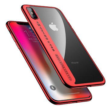 Cafele Slank Plating Clear Transparent Soft TPU Veske Til iPhone X