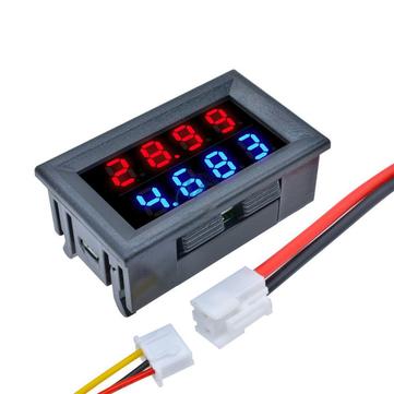 5pcs DC 100V 10A 0.28 Inch Mini Digital Voltmeter Ammeter 4 Bit 5 Wires Voltage Current Meter with LED Dual Display