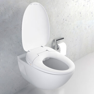 Whale Spout Washing Intelligent Temperature APP Smart Toilet Cover Seat with LED Night Light