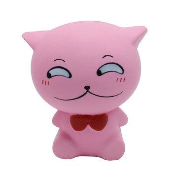Squishy PU Slow ebound simulación de juguete pajarita Gato pizca de descompresión color aleatorio