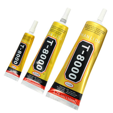 T8000 Glue Epoxy Resin Acrylic Adhesive Needle Type Phone Screen Repair DIY Crafts Jewelry 3 Sizes