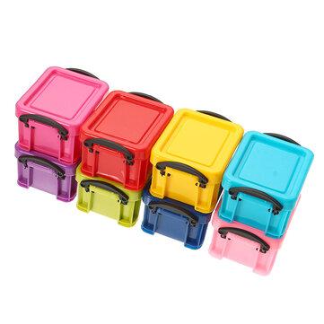 Mini jóias coloridas Caixa Cubic Brincos Acessórios de colar Container Portable Caso Armazenamento Caixa