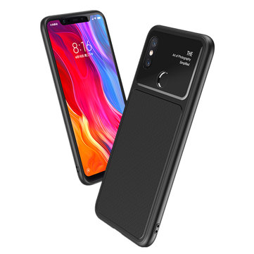 Bakeey Shockproof Tempered Glass Soft TPU Protective Case For Xiaomi Mi8