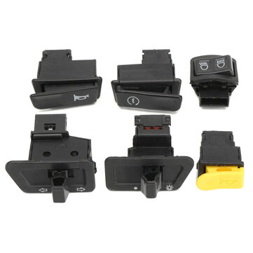 6pcs Head Light Horn Dimmer Turn Singal Starter Switch Button For Gy6 50cc -150cc