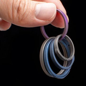 20-33 मिमी टाइटेनियम मिश्र धातु की अंगूठी की अंगूठी पॉकेट स्प्लिट चाबी का गुच्छा सीट सर्कल क्लिप मो