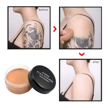 POPFEEL Full Cover Concealer Face Eye Lip Creamy Tattoo Make-up Concealer Cream Foundation