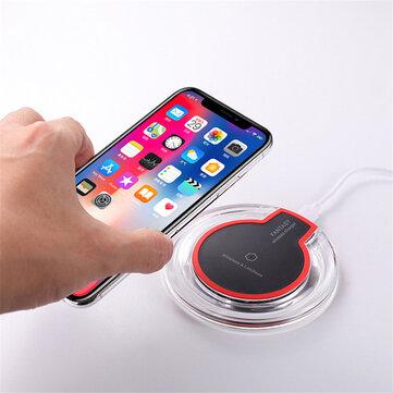 Bakeey 10W फास्ट चार्जिंग अल्ट्रा-थिन वायरलेस चार्जर पैड बेस iPhone X XS HUAWEI P30 Oneplus 7 XIAOMI MI 9 S10 S10+ के लिए