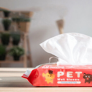 Buy 70pcs/Bag Post-it Note Design Pet Cleanig Wipes Natural Gentle And Dog Stop Itching Cleaning Keep Hygiene For Removing Eye Stains And Odor Pet Disinfection Towel Grooming Supplies with Litecoins with Free Shipping on Gipsybee.com