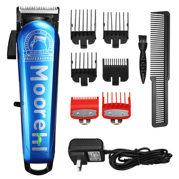 Professional Hair Trimmer Clipper Adjustable Cutting Rechargeable Shaver Remover 110-240V