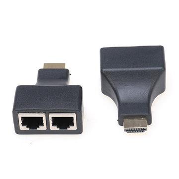 Interfaccia multimediale ad alta definizione da 2 pezzi a Doppio supporto RJ45 Extender 1080P 3D per HDTV HDPC STB