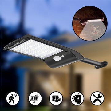 Solar Powered 36 LED PIR Motion Sensor Waterproof Street Security Light Wall Lamp for Outdoor Garden