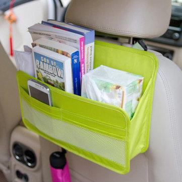 8 कलर्स बैक सीट ऑर्गनाइज़र ऑक्सफोर्ड फैब्रिक हैंगिंग स्टोरेज बैग सीट कवर प्रोटेक्टर
