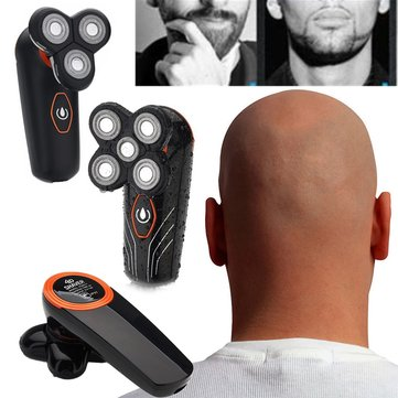 Rotary 4D Shaver Razor Electric Men Cordless Beard Trimmer Electric Head Shaver Beard Trimmer
