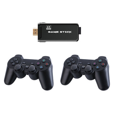 X8 SDRAM DDR3 256MB Wireless 4K UHD Game Stick 32GB 3550 Games TV Game Player with Dual 2.4G Gamepad Support PS1 MD GBA GB GBC SFC N64 MAME Arcade Game Console