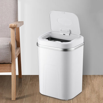 Bakeey 15L Smart Trash Can Touchless Infrared Motion Trash Can 4 Gal  Large Capacity Automatic Induction Garbage Bin
