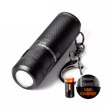 Nicron B10 XP-E2 R3 200LM 5Modes Dimmer USB Rechargeable Mini Keychain EDC LED-ficklampa