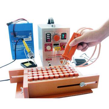 SUNKKO 709AD 2.2KW 110V/220V Spot Welder High Power Battery Digital Mobile Soldering Welding Machine 18650 Pulse Spot Weld