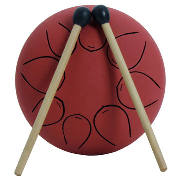 Mebite 5 Inch Ethereal Drum Steel Tongue Percussion Musical Drum With Drum Stick Carry Bag