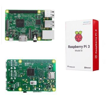 Raspberry Pi 3 Миникомпьютер Model B  ARM Cortex-A53 CPU 1.2GHz 64-Bit Quad-Core 1GB RAM 10 Times B+