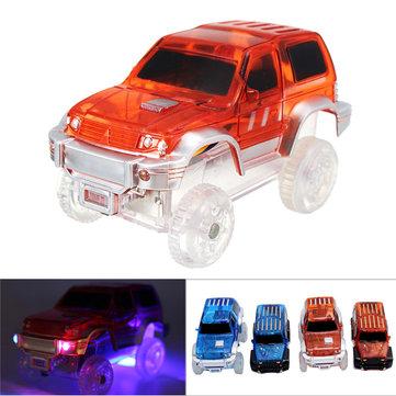 מרוץ חג המולד LED מכונית חשמלית צעצועים זוהר עבור זוהר קסום בחושך מסלול לילדים מתנה