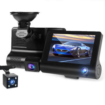 1080P Car DVR Dual Lens Dash Front Rear Inside Video Recorder Camera G-sensor