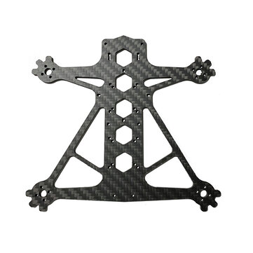 Dragon Frog 3 Inch 139mm Frame Kit Spare Part 3mm Bottom Plate Carbon Fiber