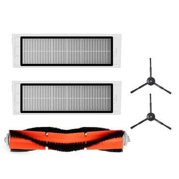 Accessories for XIAOMI Mijia Roborock S50 S51 S55 Sweeping Vacuum Cleaner Main Brushx1 Side Brushx2 Filterx2