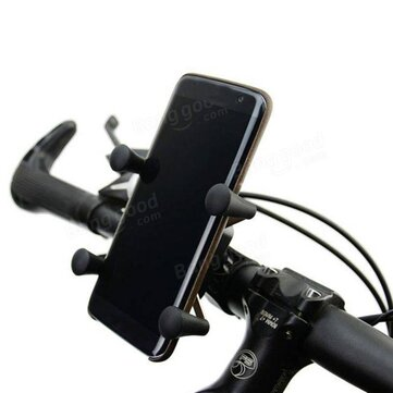 BIKIGHT Bicycle Mobile Phone Bracket 360° Adjustable X-Grip Mountain Bike Phone Holder To 5.5 Inch