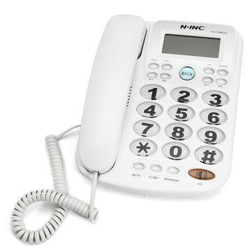 Big Button Telefone com fio Fixação telefônica fixa Fixed Phon Desktop Home Office Equipment White