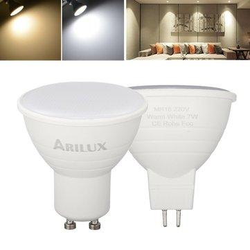 ARILUX® GU10 MR16 6W SMD2835 474LM Blanc Pur Blanc Chaud Projecteur LED Ampoule de Maïs AC220V pour Maison