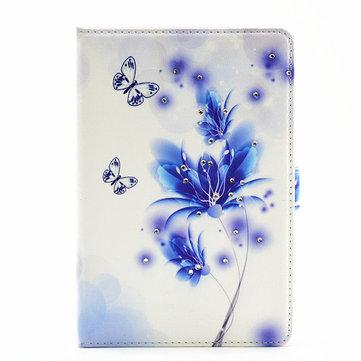 Folding PU Leather Luxury Bling Diamond Case Case Cover cho iPad mini 4