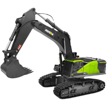 HuiNa 1593 RTR 1/14 22CH RC Excavator Alloy Bucket Vehicles Models