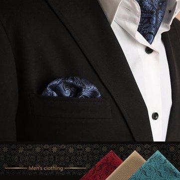 Khăn tay thời trang cho nam phù hợp với phong cách phương Tây Dot Men Paisley Pocket Square Tie khăn tay