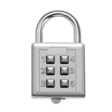 KCASA LK-21 6 cifre pulsante lucchetto combinazione viaggio valigia bagagli password di sicurezza serratura
