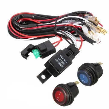 40A 12V LED Light Bar Wiring Harness Relay On/Off Switch For Jeep Off Jeep Wiring Harness on jeep intake gasket, jeep condensor, jeep wiring diagram, jeep exhaust gasket, jeep tach, jeep exhaust leak, jeep engine harness, jeep wire connectors, jeep vacuum advance, jeep visor clip, jeep wiring connectors, jeep gas sending unit, jeep seat belt harness, jeep knock sensor, jeep sport emblem, jeep electrical harness, jeep relay wiring, jeep carrier bearing, jeep key switch, jeep bracket,